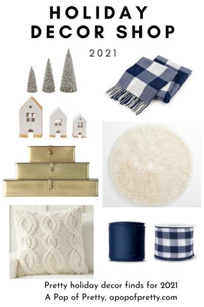 Navy blue Christmas decor ideas