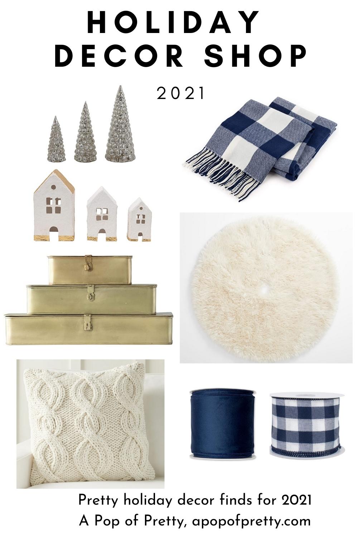 Christmas decor shop 2021