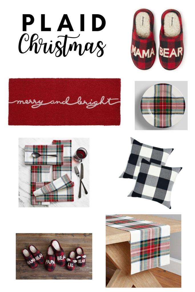 plaid Christmas decor shop