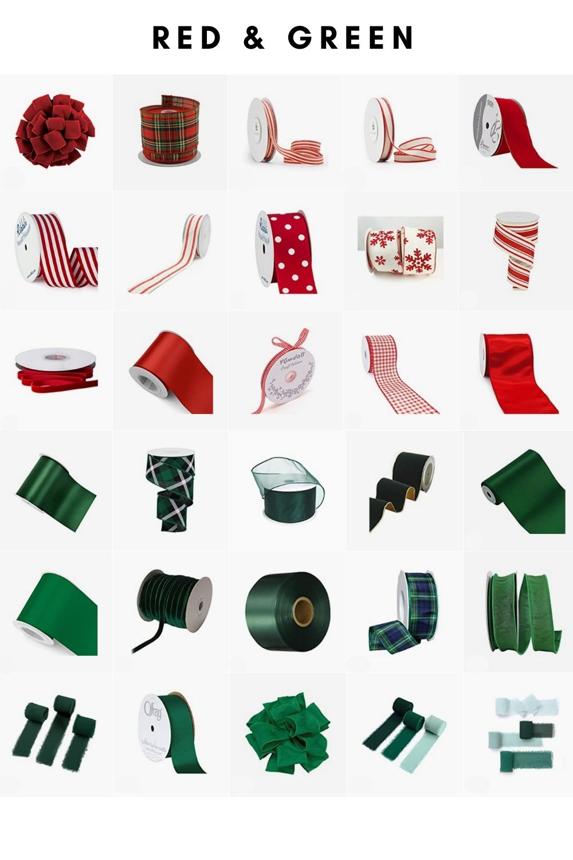 Christmas decor shop ribbon
